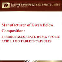 Ferrous Ascorbate 100 MG, Folic Acids 1.5 MG Capsules
