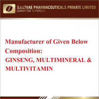 Ginseng Multimineral And Multivitamin Capsule