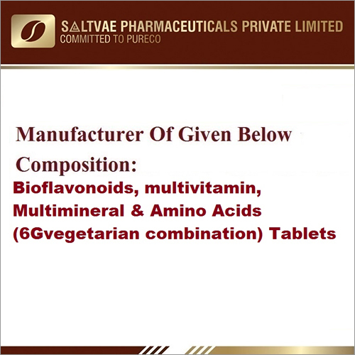 Bioflavonoids Multivitamin Multiminerals And Amino Acids (6G Vegetarian Combination)Tablets