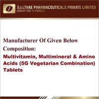 Multivitamin Multiminerals And Amino Acids (5G Vegetarian Combination) Tablets