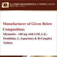 Silymarin-140 MG With Lola (L-Prnithine L-Aspartate) And B-Complex Tablets