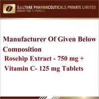 Rosehip Extract-750 MG Vitamin C-125 MG Tablets
