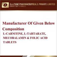 L-Carnitine L-Tartarate Mecobalamin And Folic Acid Tablets