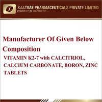 Vitamin K2-7 With Calcitriol Calcium Carbonate, Boron Zinc Tablets