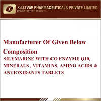 Silymarine With Co Enzyme Q10 Minerals Vitamins, Amino Acids And Antioxidants Tablets