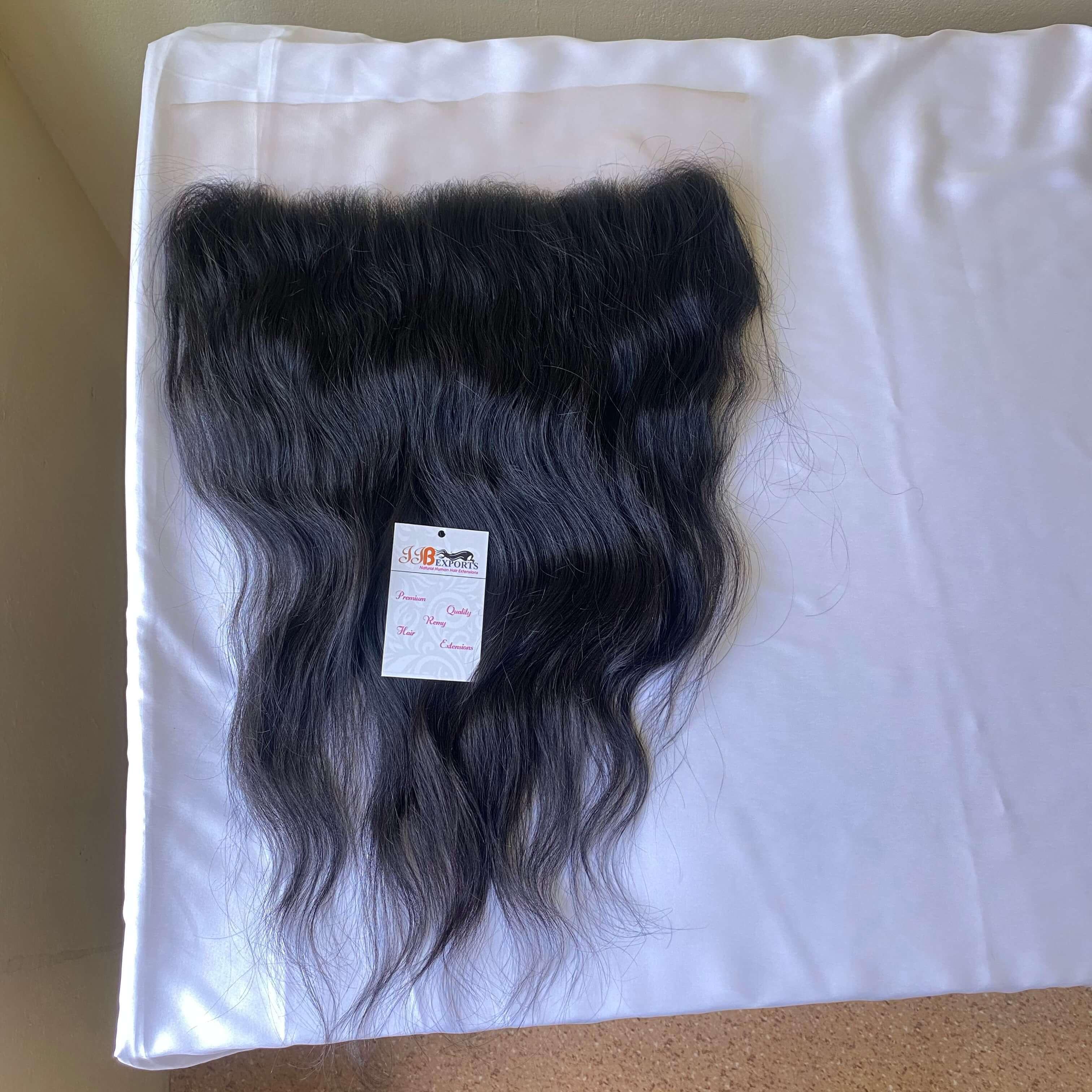 Peruvian Natural Body Wave/wavy Human Hair Thin Lace Frontal 13x4 Hair Extensions