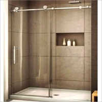 Stainless Steel and Glass Shower Enclosure