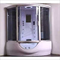 Glass and Aluminium Steam Room Bath