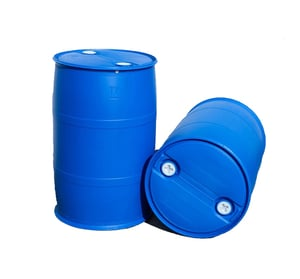 200 Liter Hdpe Blue Plastic Oil Drum With Two Spout Lid And Lock Ring