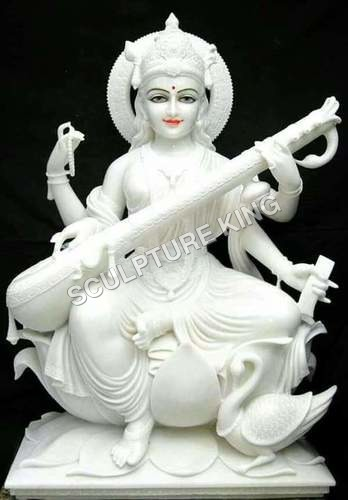 Saraswati Mata Marble Statue