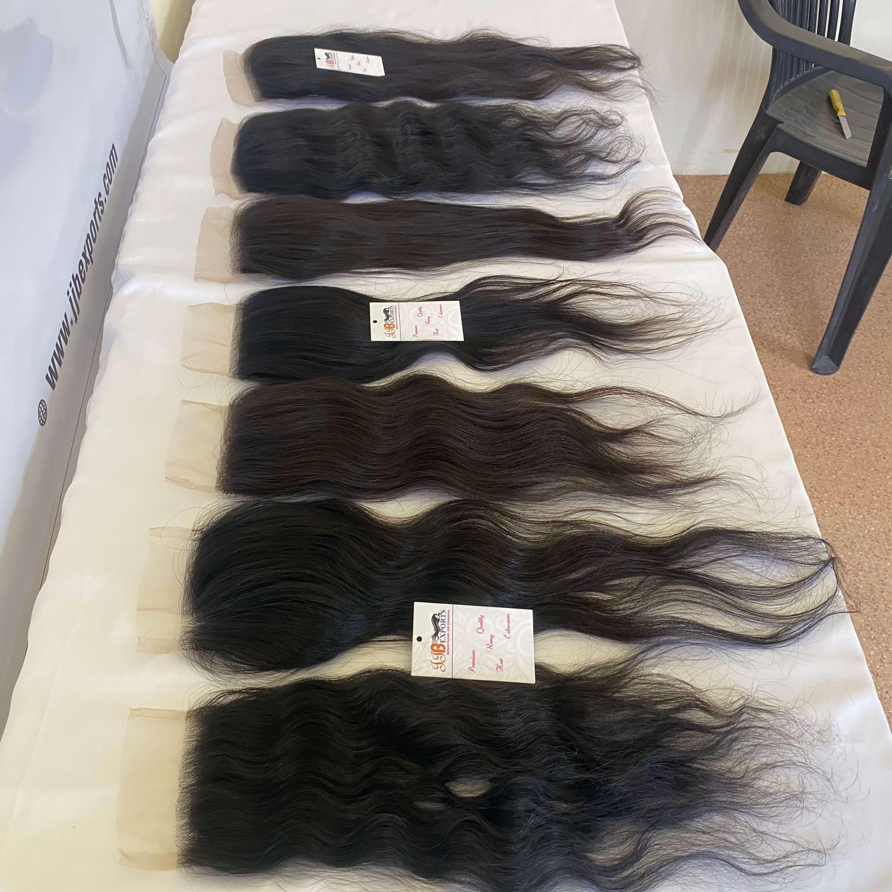 Thin Lace Clousre 4x4 5x5 6x6 Virgin Remy Brazilian Huma Hair With Weft Bundle
