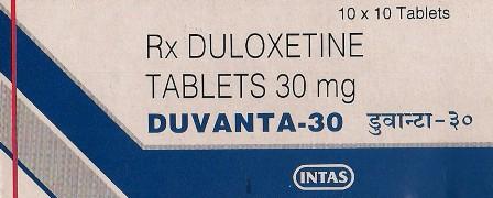 DUVANTA 30(DULOXETINE HYDROCHLORIDE 30MG)