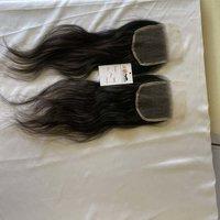 Wholesale hd thin lace closure brazilian hair raw unprocessed virgin human bulk baby hair