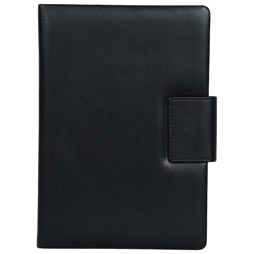 Hardbound Notebook With Magnetic Flap - A5 Size - (Black)