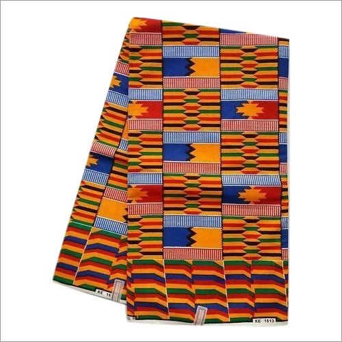 African Cotton Kente Print Fabric