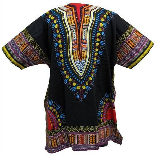 Ladies Half Sleeves African Dashiki Shirt