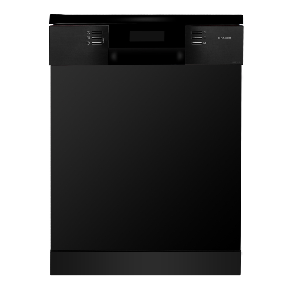Faber 14 Place Setting Under-Counter Dishwasher with Multi-function Three Layer Cutlery Basket, FFSD 8PR 14S BK Black