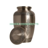 Brass Cremation Urn, Funeral Urn for Ashes