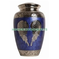 Blue Silver Wings Large Urn