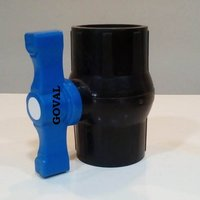 PP Solid Ball Valve Gray Long Handle