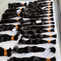 Natural raw unprocessed single drawn virgin remy bulk human hair