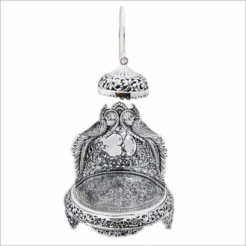 Silver Antique Oxidised Singhasan Pooja Items