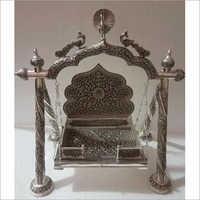 Silver Antique Handicraft Jhula Pooja Items