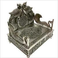 Silver Antique Decorative Singhasan