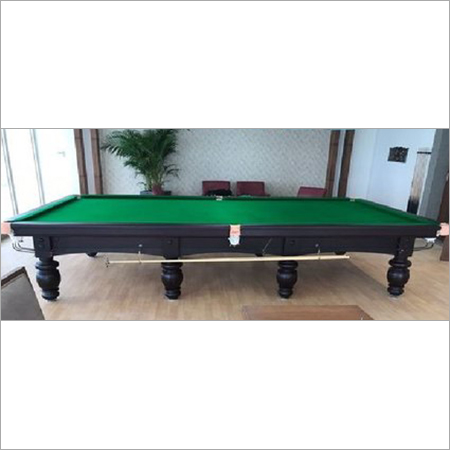 Antique Brown English Snooker Table