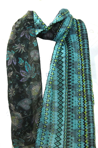 Poly Voile Printed Stole