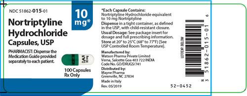 Nortriptyline Hydrochloride Capsule