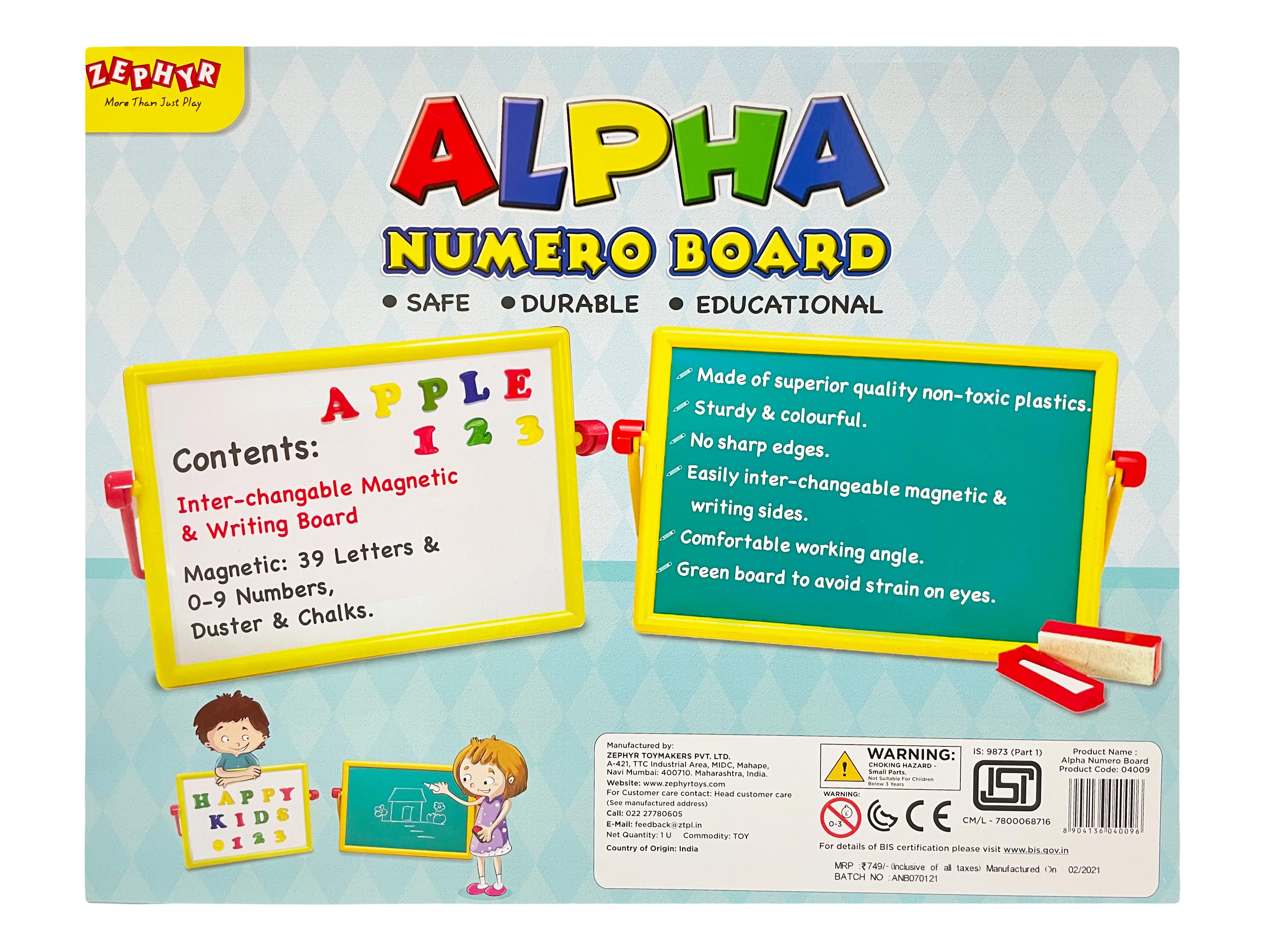 Alpha Numero Board