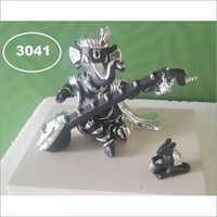 Glossy Finish Black 3041 Singing Ganpati Statue, Size 2.5 X 3 Inch