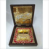 Copper Golden,Red Gold Plated Shatrunjay Photo Frame Box, For Gift