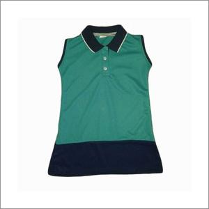 Girls Half Sleeves School T-Shirts