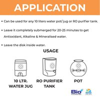 Antioxidant, Alkaline, Antibaterial, Mineralising Titanic Disk For 5 Litres Storage Tank