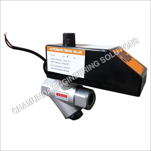 Electrically Adjustable Automatic Drain Valve With Timer And Filter