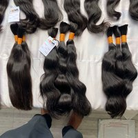 Cuticle Aligned Virgin raw unprocessed remy bulk human Hair with Lace Closures Frontals