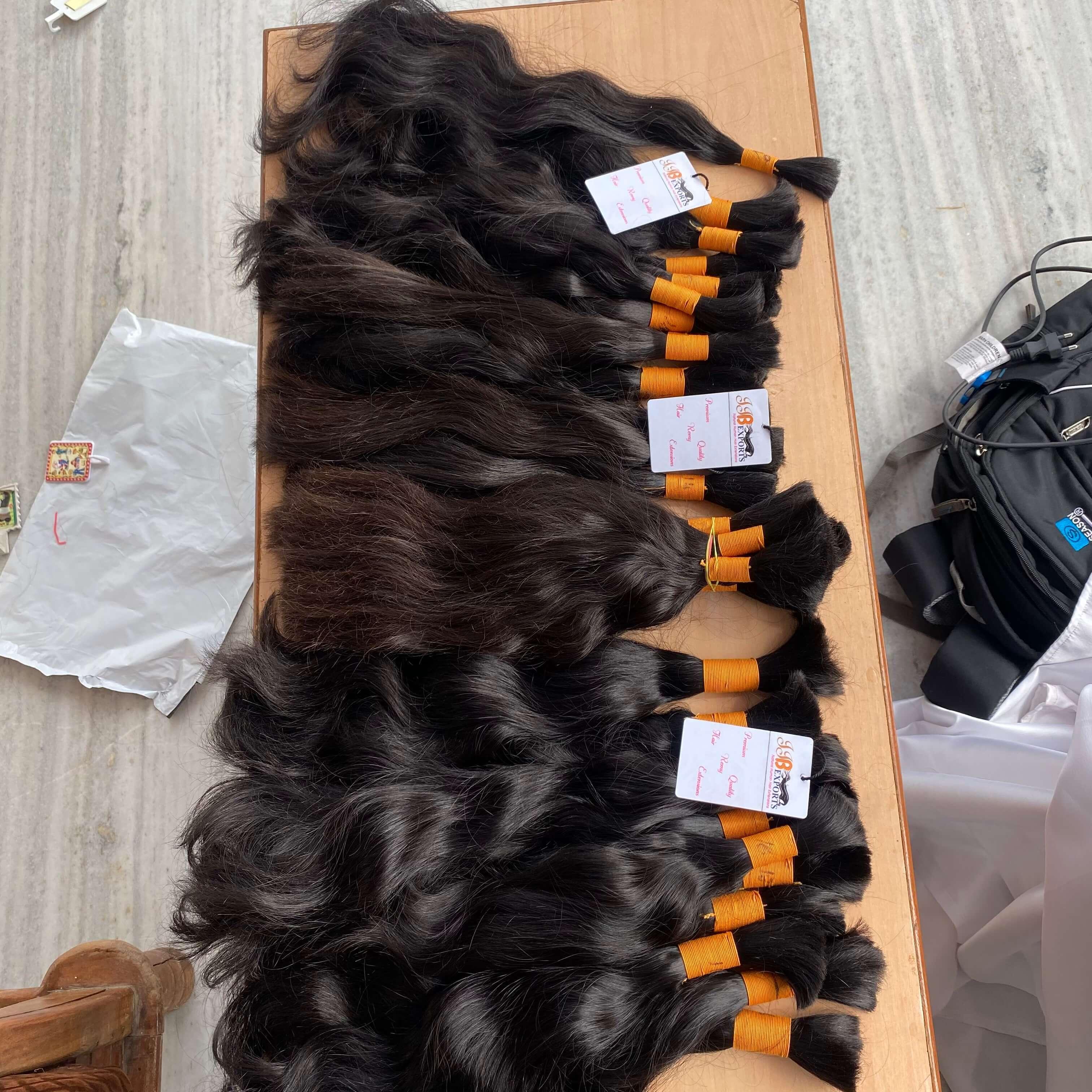 Best Quality indian unprocessed raw virgin remy human bulk hair
