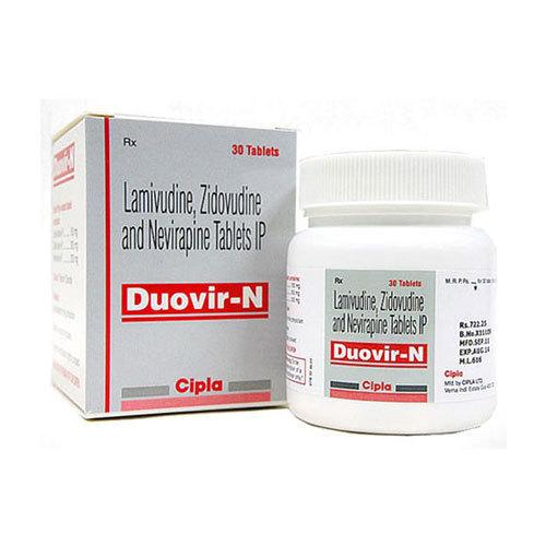 DUOVIR N TABLET (Lamivudine (150mg) + Zidovudine (300mg) + Nevirapine (200mg)