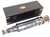 Brass Telescope With Wooden Box