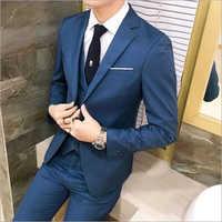 Three Piece Slim Fit Blue Coat Pant