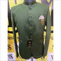 Mens Party Wear Green Jodhpuri Coat Pant