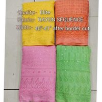 RAYON CHICKEN SEQUENCE FABRIC