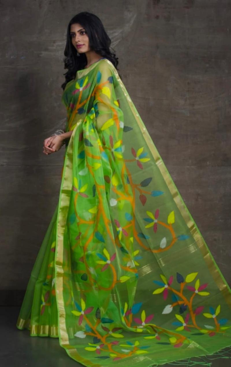 Rasum Moslin Jamdani Saree 3800