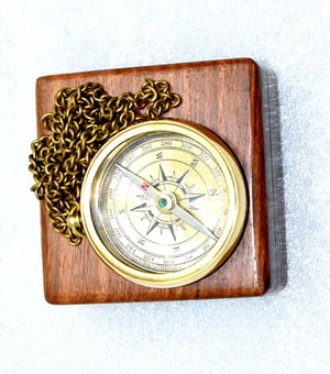 Nautical Brass Compass With Box