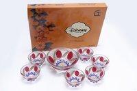 7 Pcs Pudding Set Leaf Deco Disny Box