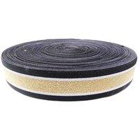45 Mm Zari Niwar Tapes Black Ss B  185 K  Kasab Gold Zari
