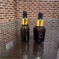 10ml Square and Round Amber glass bottle