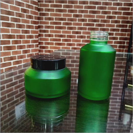 100 Gram Green Frosted Jar